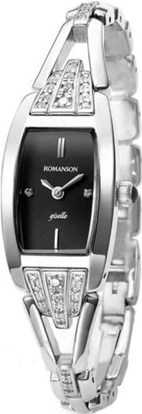 Женские часы Romanson RM8272QLW(BK) romanson rm 6a31c lw wh