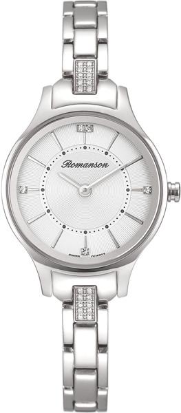 цена Женские часы Romanson RM8A02QLW(WH) онлайн в 2017 году