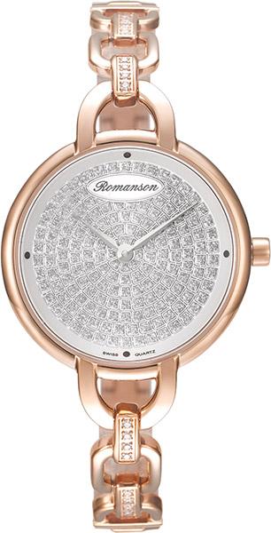 Женские часы Romanson RM8A14QLR(WH)