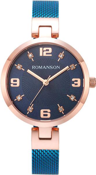 Женские часы Romanson RM8A18LLR(BU) женские кольца esprit женское серебряное кольцо с цирконами esrg 91386 a 18 5
