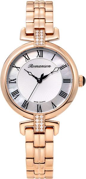 Женские часы romanson rm8a29qlr(wh)