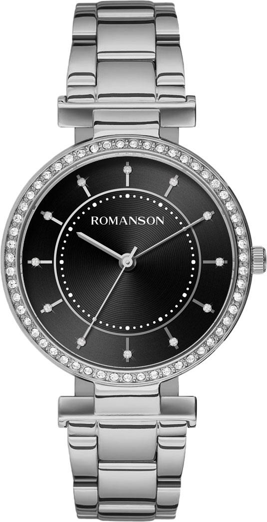лучшая цена Женские часы Romanson RM8A44TLW(BK)