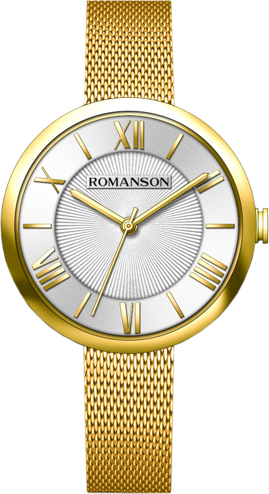 цена Женские часы Romanson RM8A48LLG(WH) онлайн в 2017 году
