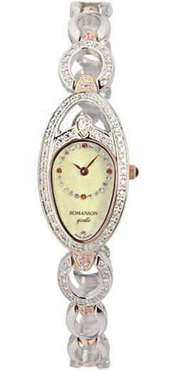 лучшая цена Женские часы Romanson RM9207QLJ(GD)