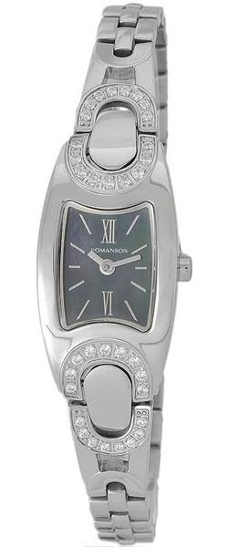 Женские часы Romanson RM9240QLW(BK) romanson rm 6a31c lw wh