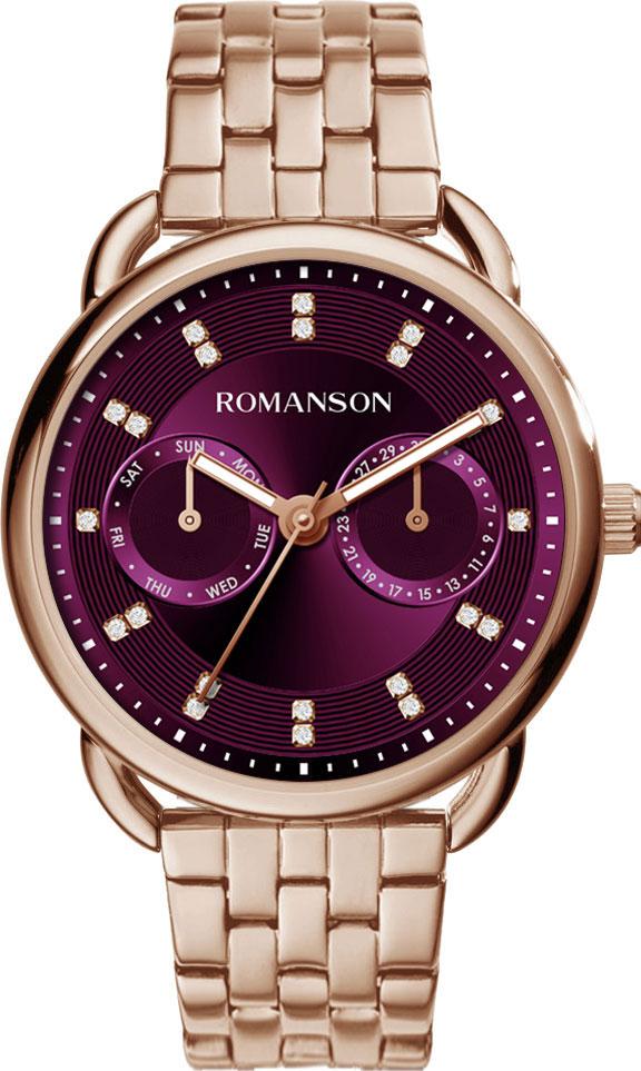 Женские часы Romanson RM9A16FLR(WINE) женские часы romanson rm6a05llw wine
