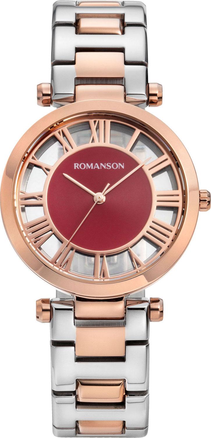 Женские часы Romanson RM9A17LLR(WINE) женские часы romanson rm6a05llw wine