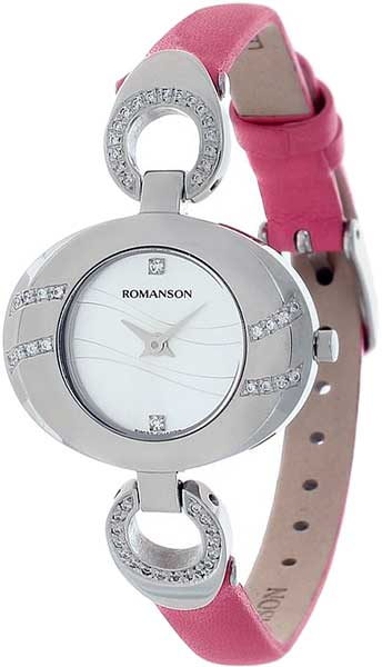 Женские часы Romanson RN0391QLW(WH)PINK romanson rn 3215 lw wh nv