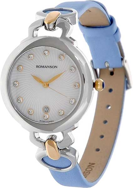 Женские часы Romanson RN2622LC(WH)BU romanson rn 3215 lw wh nv