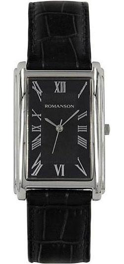 Мужские часы Romanson TL0110SMW(BK) romanson часы romanson tl0110smw bk коллекция adel