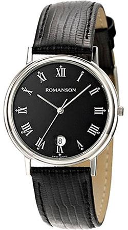 Мужские часы Romanson TL0162SMW(BK) romanson romanson tl 0162 mw bk