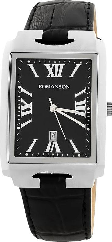 Мужские часы Romanson TL0186CXW(BK) modelle ботинки modelle 0186 551 0205 кофе с молоком черный