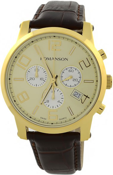 Мужские часы Romanson TL0334HMG(GD) romanson часы romanson tl0226sxg gd коллекция adel