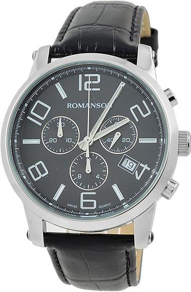 где купить Мужские часы Romanson TL0334HMW(BK) дешево