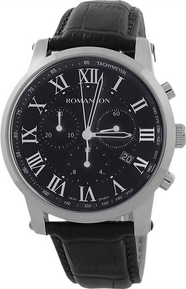Мужские часы Romanson TL0334HMW(BK)RIM