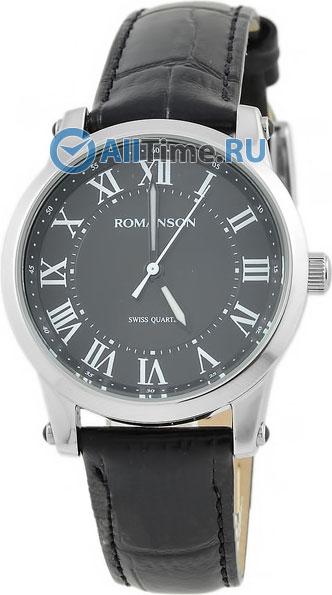 Мужские часы Romanson TL0334LW(BK) romanson часы romanson tl0110slw bk коллекция adel
