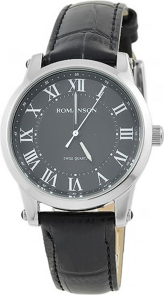 Женские часы Romanson TL0334LW(BK)RIM romanson tl 1579d lw bk