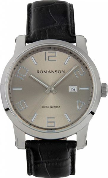 цена Мужские часы Romanson TL0334MW(GR) онлайн в 2017 году
