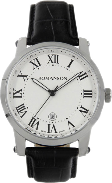 Мужские часы Romanson TL0334MW(WH)RIM romanson tl 0334 mw wh rim