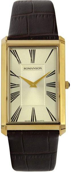 Мужские часы Romanson TL0390MG(GD) romanson часы romanson rm2140qlg gd коллекция lady dressy