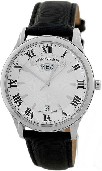 Мужские часы Romanson TL0393MW(WH) romanson tl 9225 mw wh