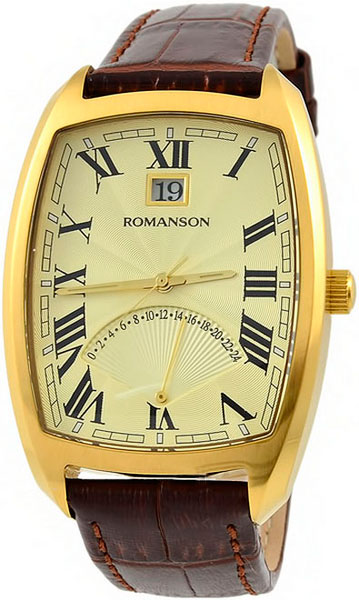 Мужские часы Romanson TL0394MG(GD) мужские часы romanson tl0334mg gd