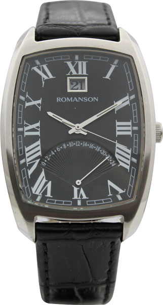 Мужские часы Romanson TL0394MW(BK) romanson часы romanson tl0394mw bk коллекция gents fashion