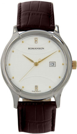 Мужские часы Romanson TL1213SMC(WH) romanson часы romanson tm7266mj wh коллекция adel