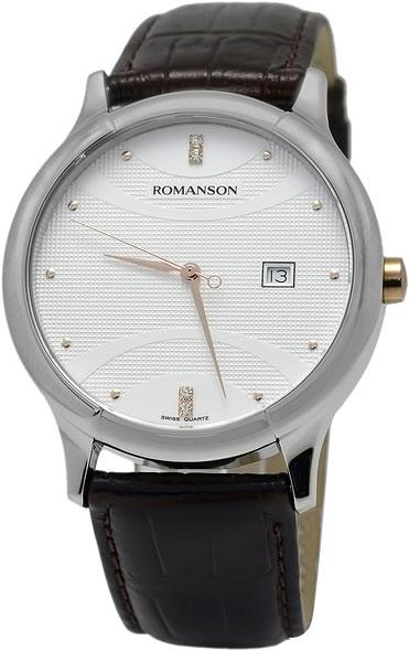 Мужские часы Romanson TL1213SMJ(WH) romanson часы romanson tm8154cmr wh коллекция adel