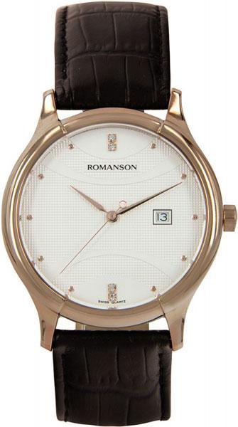 лучшая цена Мужские часы Romanson TL1213SMR(WH)