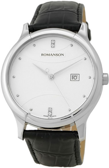 Мужские часы Romanson TL1213SMW(WH) romanson tm 9248 mj wh
