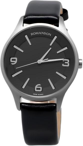 лучшая цена Мужские часы Romanson TL1243MW(BK)BK
