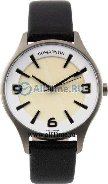 Мужские часы Romanson TL1243MW(WH)BK romanson tl 4201 mw wh bk