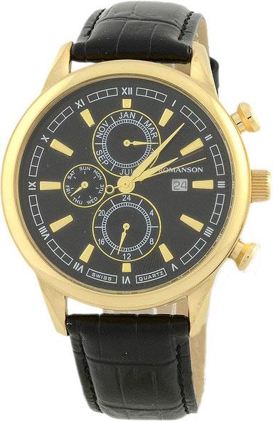 Мужские часы Romanson TL1245BMG(BK)BK