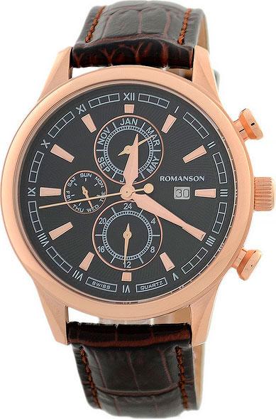 Мужские часы Romanson TL1245BMR(BK)BN romanson tl 1245b mr bk bn