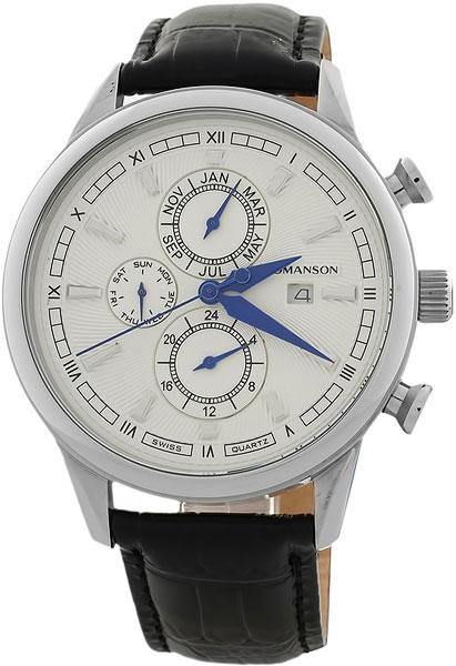 Мужские часы Romanson TL1245BMW(WH)BK дизайн панков турецкий браслеты для глаз для мужчин женщины новая мода браслет женский сова кожаный браслет камень