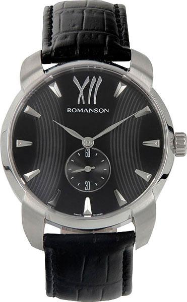 Мужские часы Romanson TL1250MW(BK)BK-ucenka мужские часы romanson tl0186cxw bk