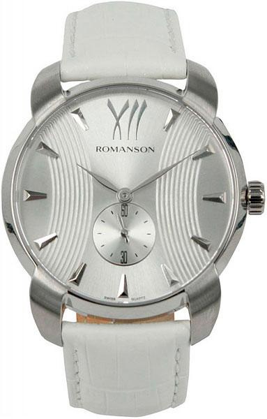 Мужские часы Romanson TL1250MW(WH)WH romanson tl 9225 mw wh