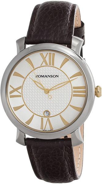 лучшая цена Мужские часы Romanson TL1256MC(WH)BN