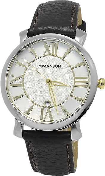 Мужские часы Romanson TL1256MJ(WH)BN romanson tm 9248 mj wh