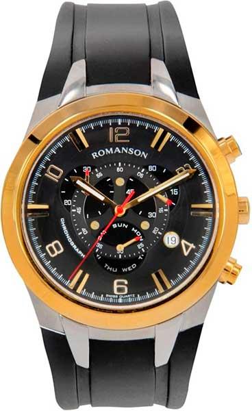 Мужские часы Romanson TL1261HMC(BK)BK мужские часы romanson tl3250fmw bk bk