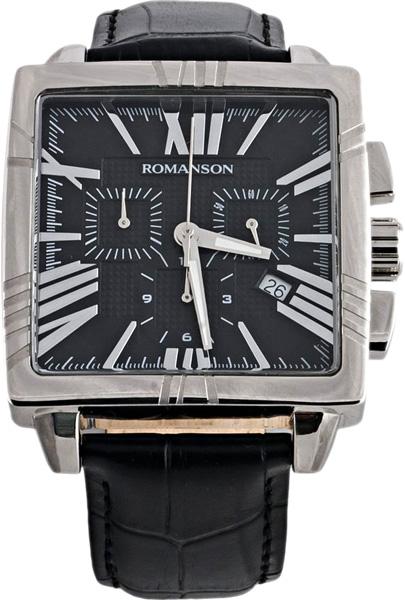 Мужские часы Romanson TL1263HMW(BK)BK мужские часы romanson tl0186cxw bk