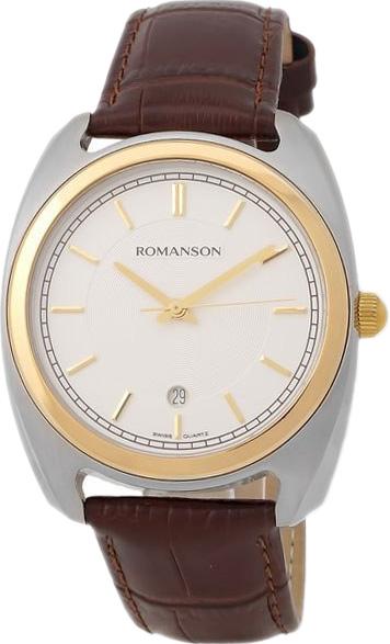 цена Мужские часы Romanson TL1269MC(WH)BN онлайн в 2017 году