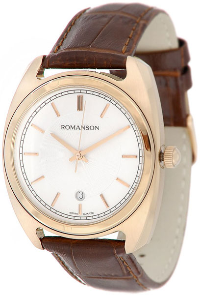 Мужские часы Romanson TL1269MG(WH)BN цена и фото