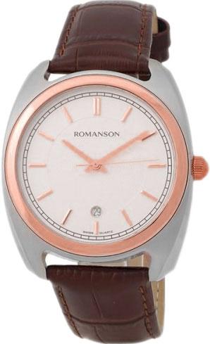 Мужские часы Romanson TL1269MJ(WH)BN romanson tl 9214 mj wh