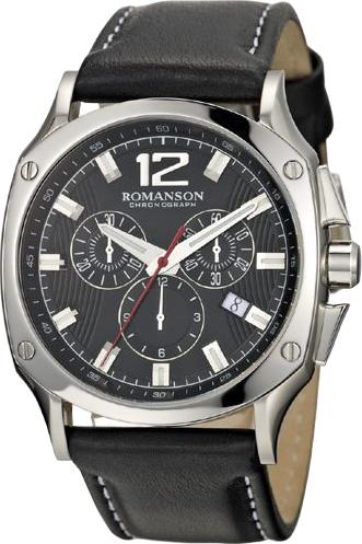 Мужские часы Romanson TL1270HMW(BK)BK