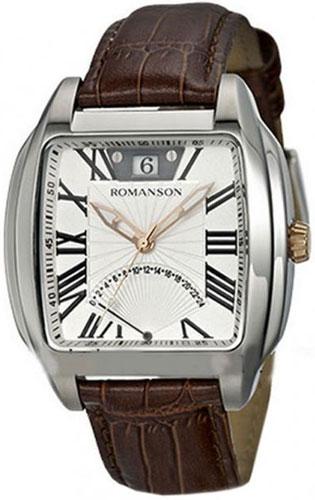 Мужские часы Romanson TL1273MJ(WH)BN romanson tl 9214 mj wh