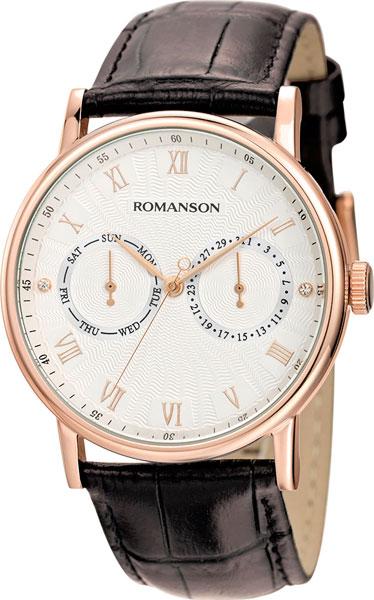 Мужские часы Romanson TL1275BMR(WH)BN мужские часы romanson tl1256mg wh bn