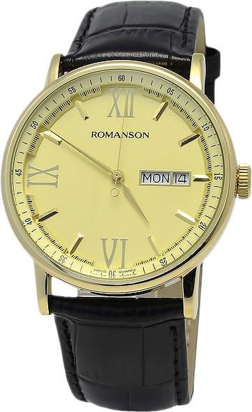Мужские часы Romanson TL1275MG(GD)BK
