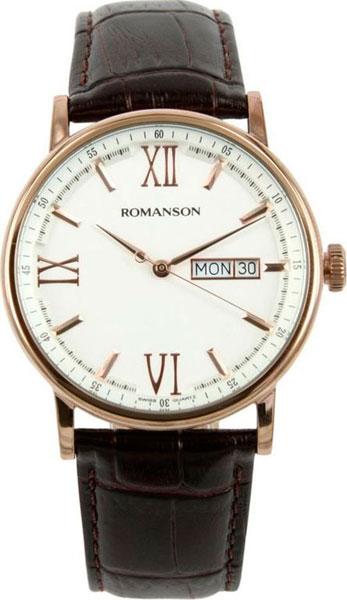 Мужские часы Romanson TL1275MR(WH)BN цена и фото